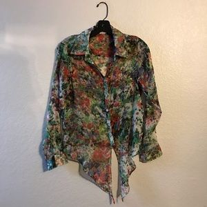 Urban outfitters pine and needle button down